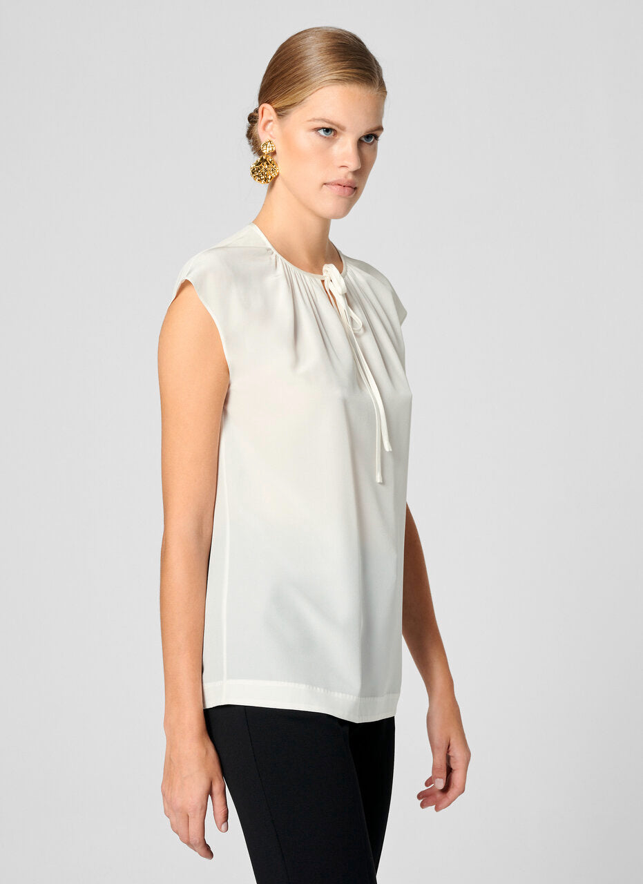 Silk Cap-Sleeve Top