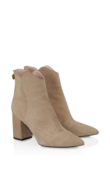 Suede Ankle Boots - ESCADA