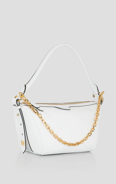 Leather Chain Trim Handbag - ESCADA