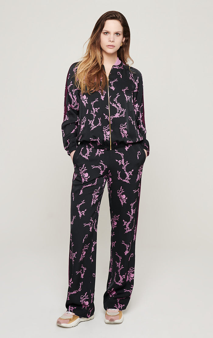Floral Side Stripe Pants - ESCADA