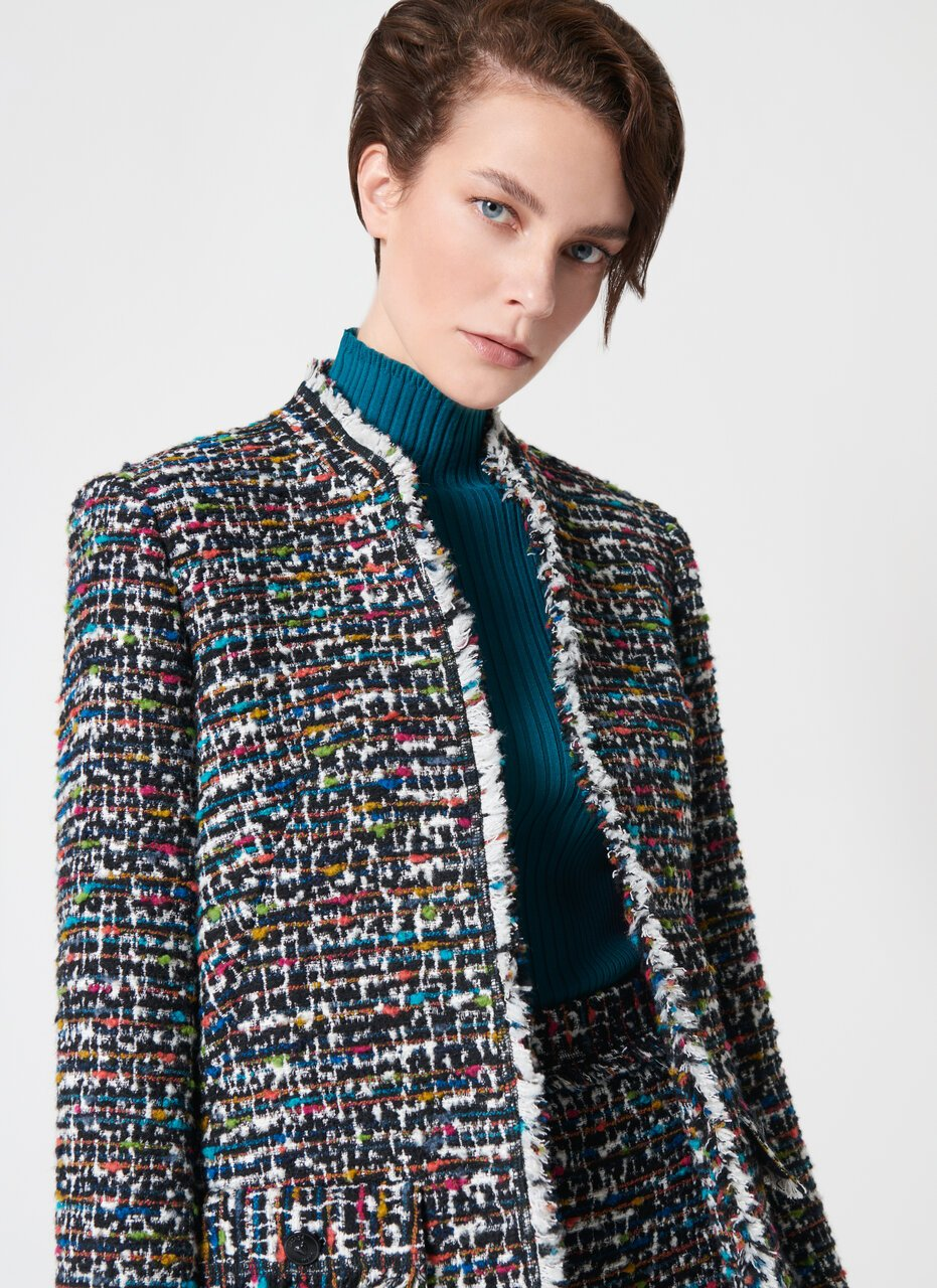 Rich Multicolor Tweed Jacket - ESCADA