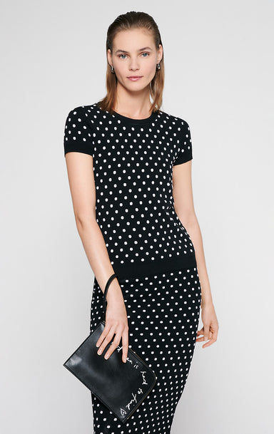 ESCADA Polka Dot Jacquard Sweater