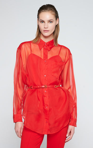 ESCADA Silk Organza Blouse