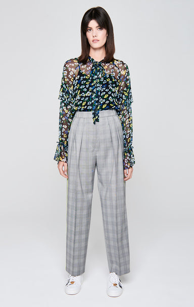 ESCADA Wool Check Pleated Pants