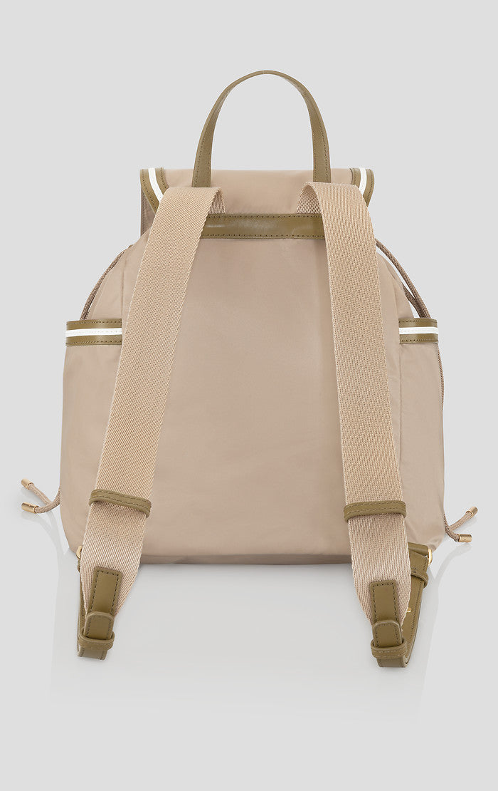 Nylon and Leather Backpack - ESCADA
