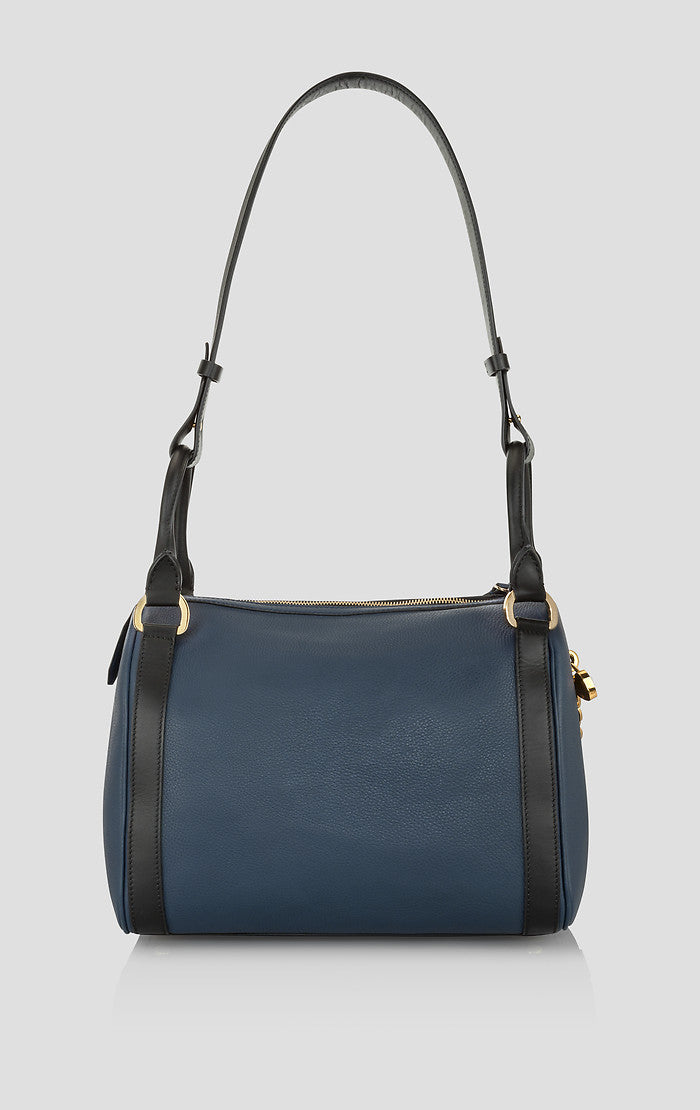 Leather Chain Trim Shoulder Bag - ESCADA
