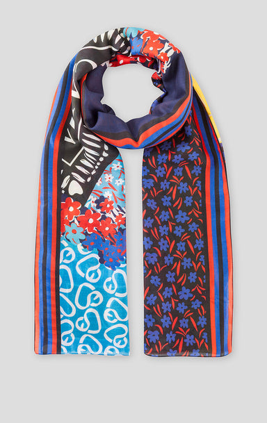 ESCADA Cotton Silk Printed Scarf