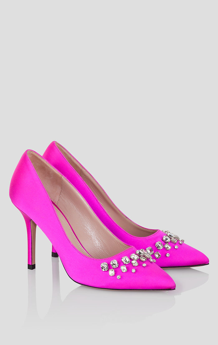 Silk Embellished Pumps - ESCADA