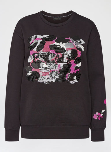 Embroidered Logo jersey sweater - ESCADA