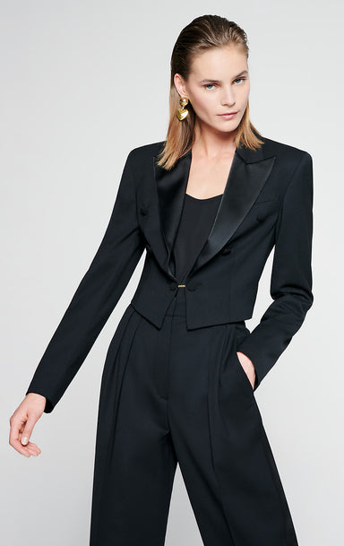ESCADA Wool Blend Tuxedo Jacket