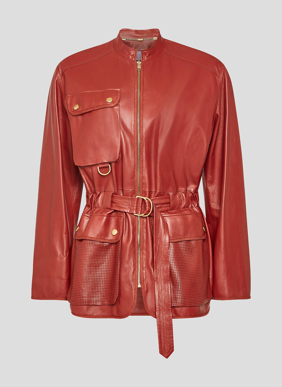ESCADA Leather Belted Jacket