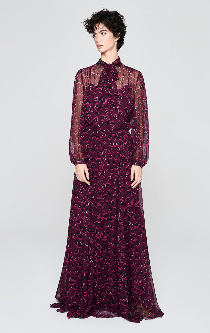 ESCADA Silk Chiffon Printed Gown