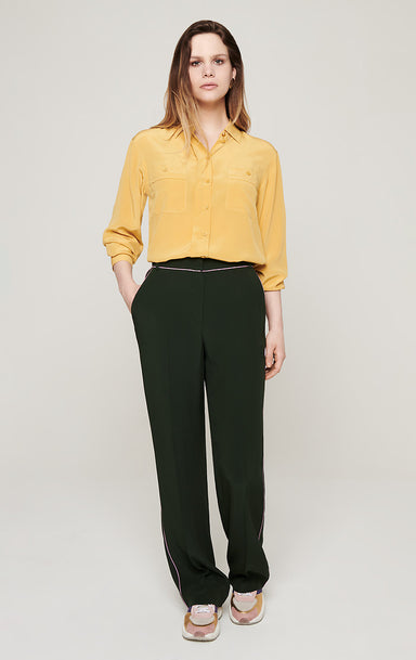 Crepe Satin Straight Pants - ESCADA