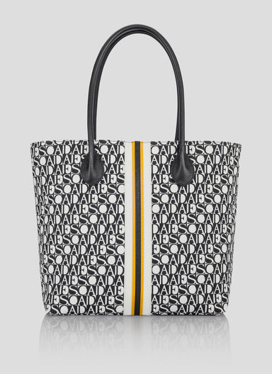 Canvas and Leather Tote Bag - ESCADA