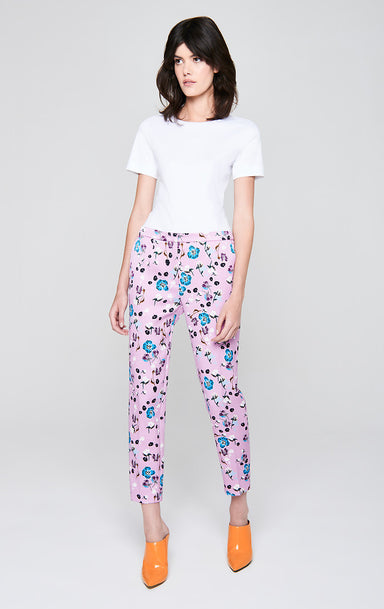 ESCADA Floral Jacquard Cropped Pants