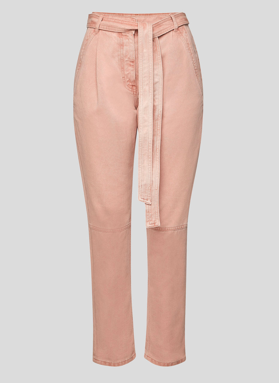 ESCADA High Rise Belted Jeans