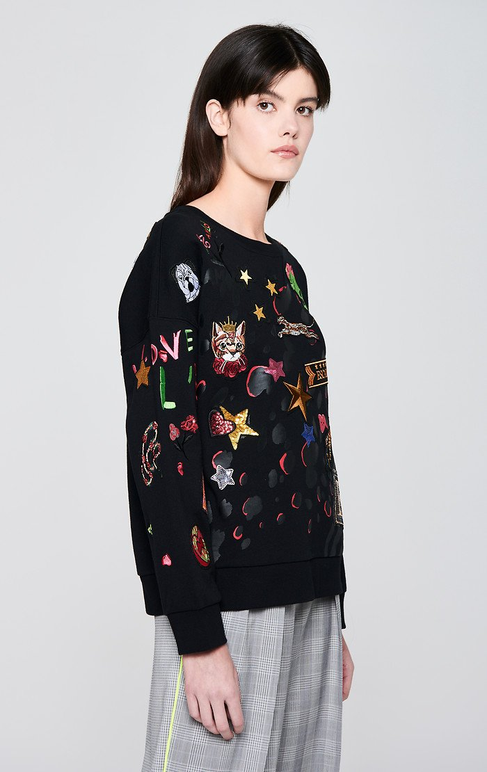Badge Appliqué Sweatshirt - ESCADA