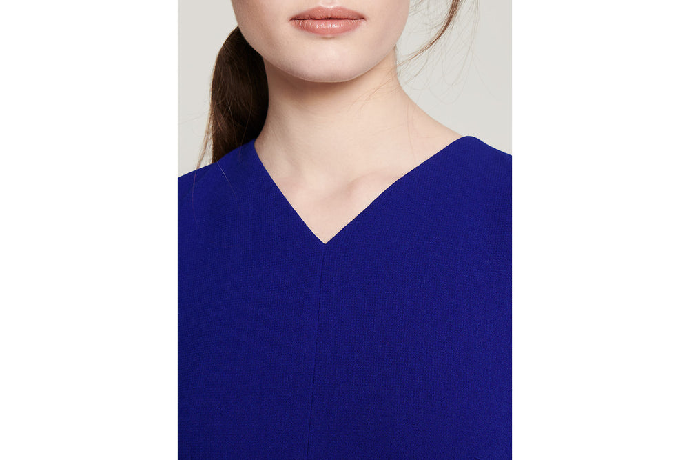 ESCADA Wool Crepe Midi Dress