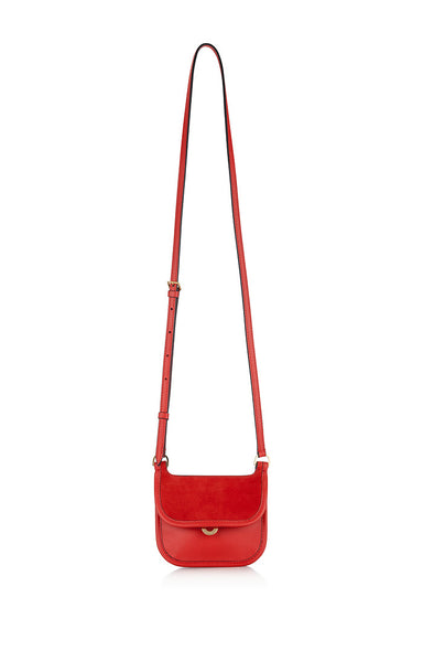 Residency Collection - Small Leather and Suede Shoulder Bag