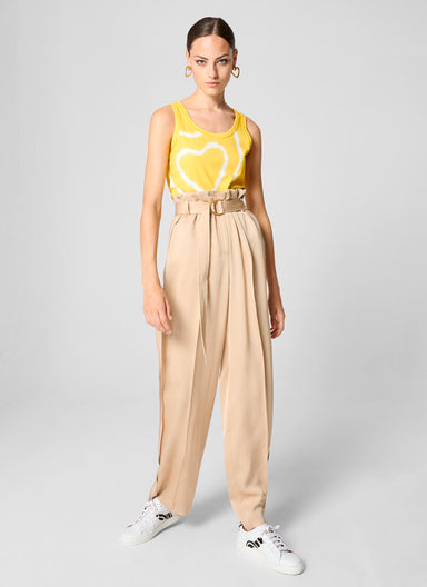 Crepe Belted Wide-Leg Pants - ESCADA