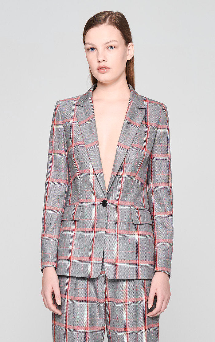 Wool Check Blazer - ESCADA