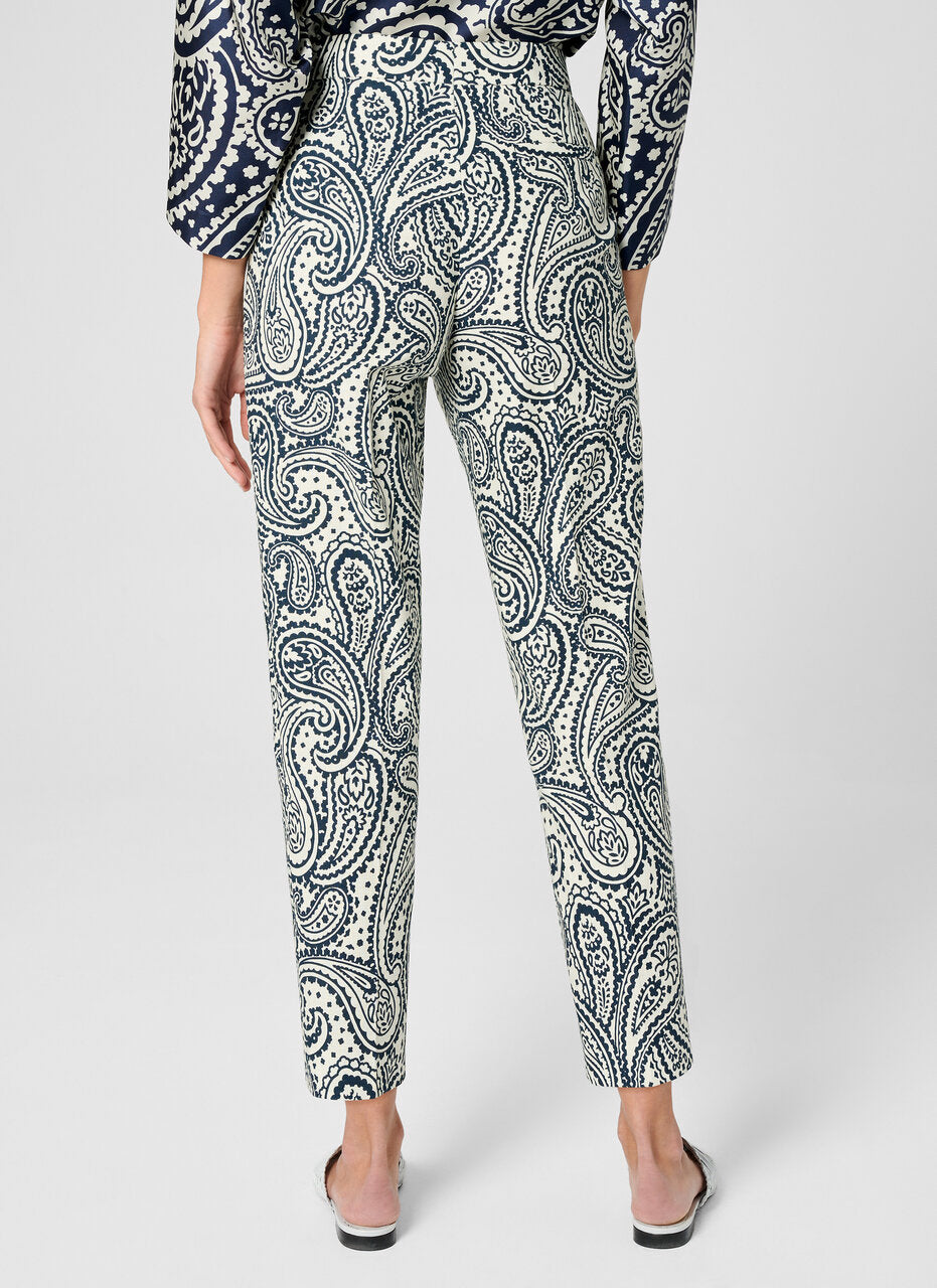 Cotton Stretch Paisley Pants