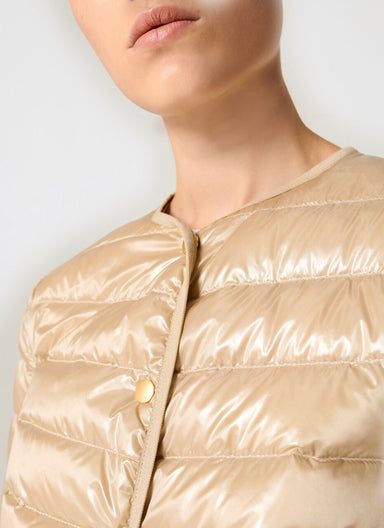 Satin Quilted Down Jacket