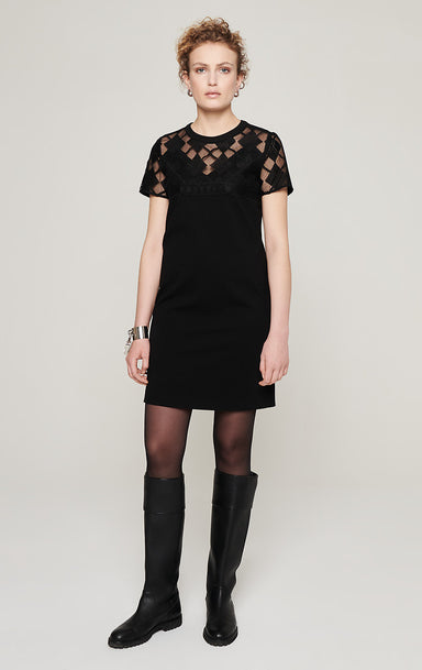 ESCADA Milano Jersey and Lace Dress