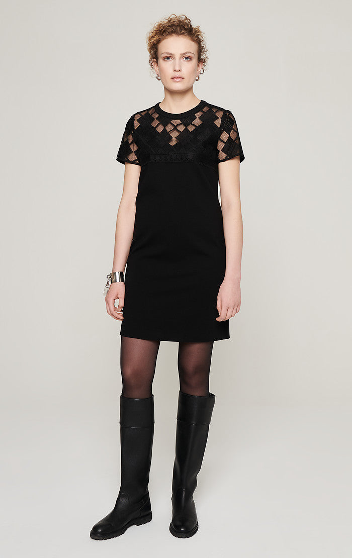 Milano Jersey and Lace Dress