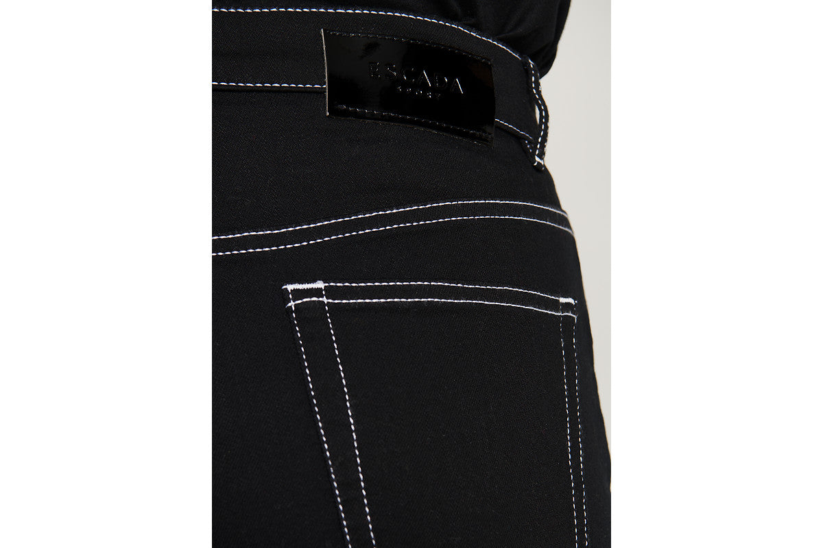 ESCADA Black Tapered Ankle Jeans
