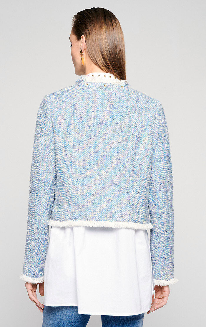 Cotton Tweed Jacket - ESCADA