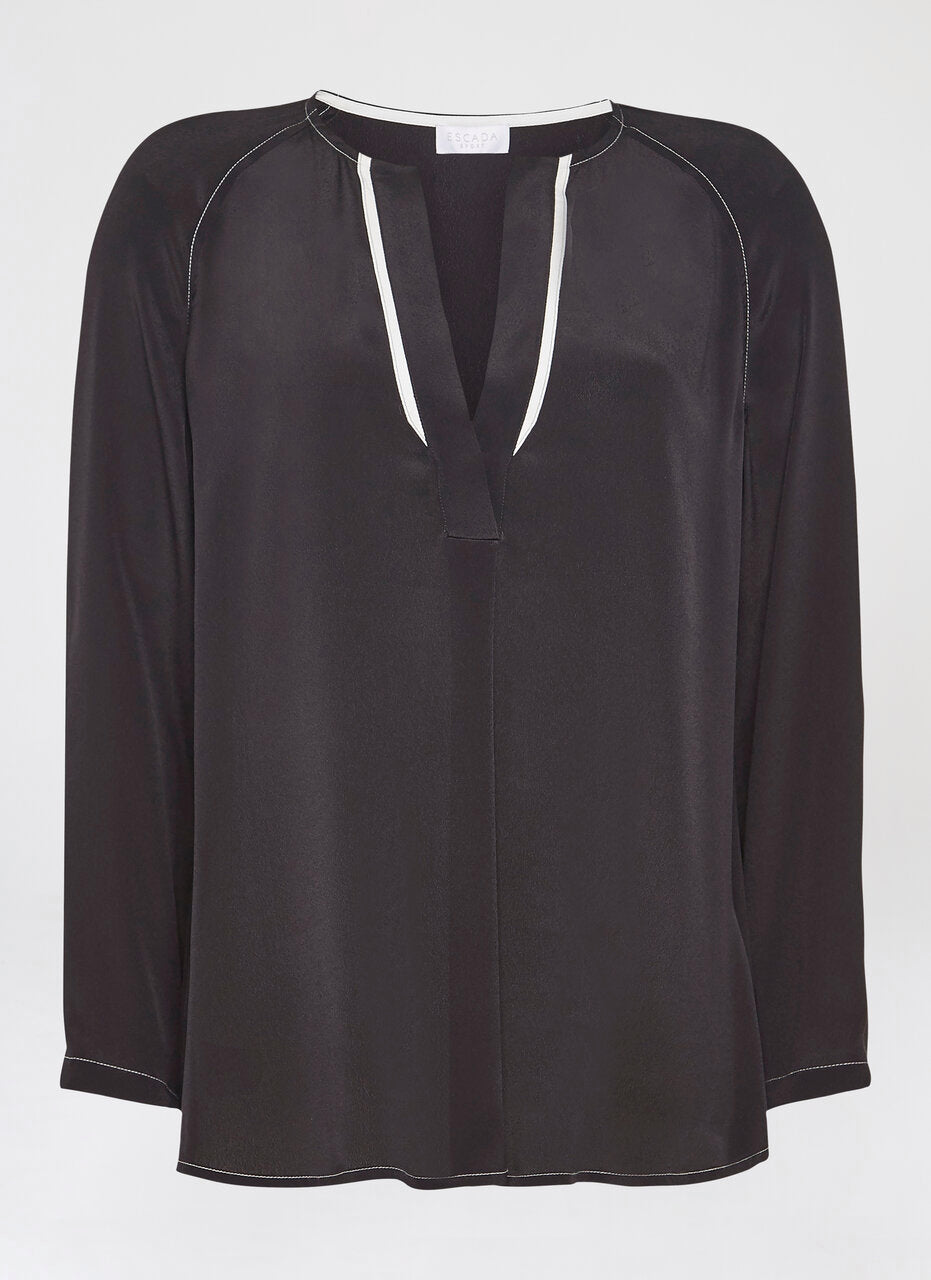 Silk Blend Tunic Blouse - ESCADA