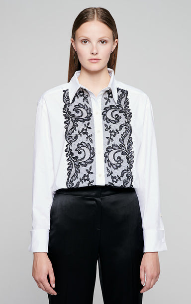 Poplin and Lace Shirt - ESCADA