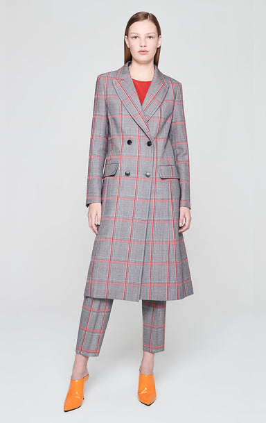 ESCADA Virgin Wool Check Long Coat