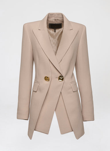 Wool crepe double layered blazer - ESCADA