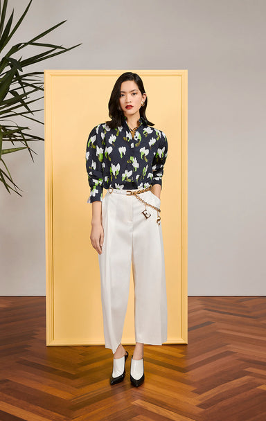 Cotton Floral Blouse - ESCADA