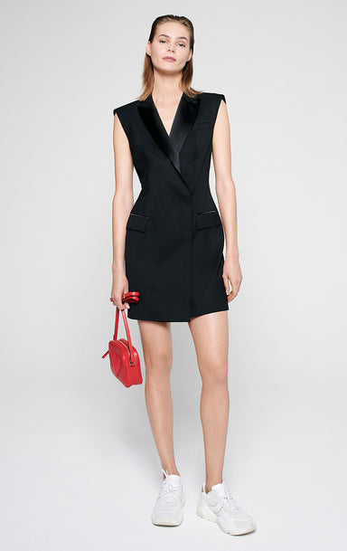 Wool Blend Tuxedo Dress - ESCADA