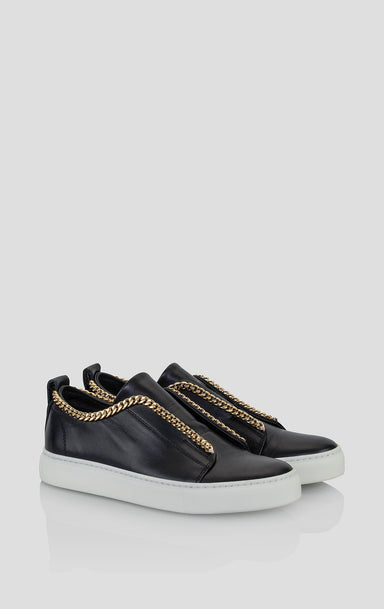 Leather Slip-On Sneakers - ESCADA