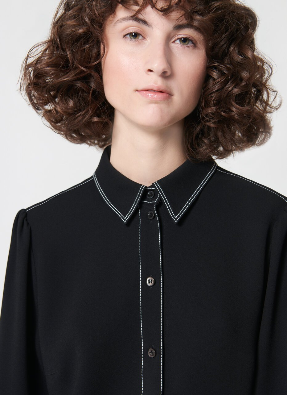 Basic shirt with stitching detail - ESCADA
