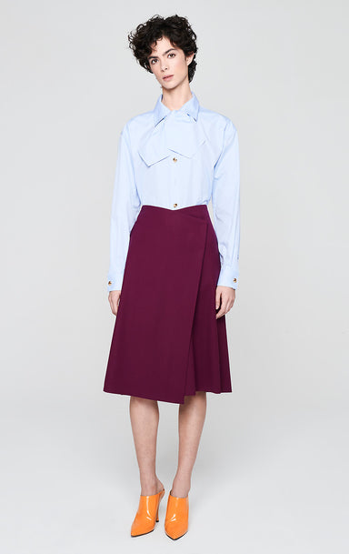 ESCADA Wool Twill Wrap Skirt