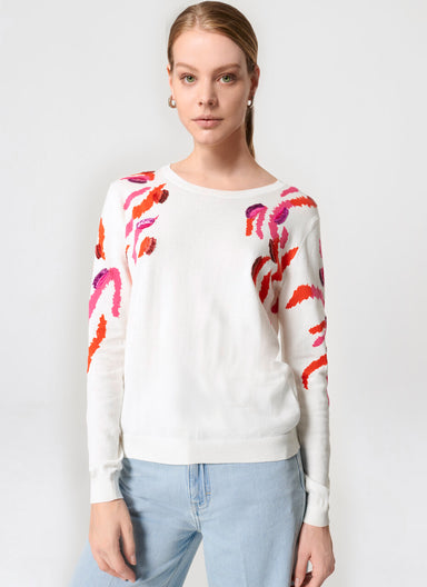 Sequin-Embroidered Sweater - ESCADA
