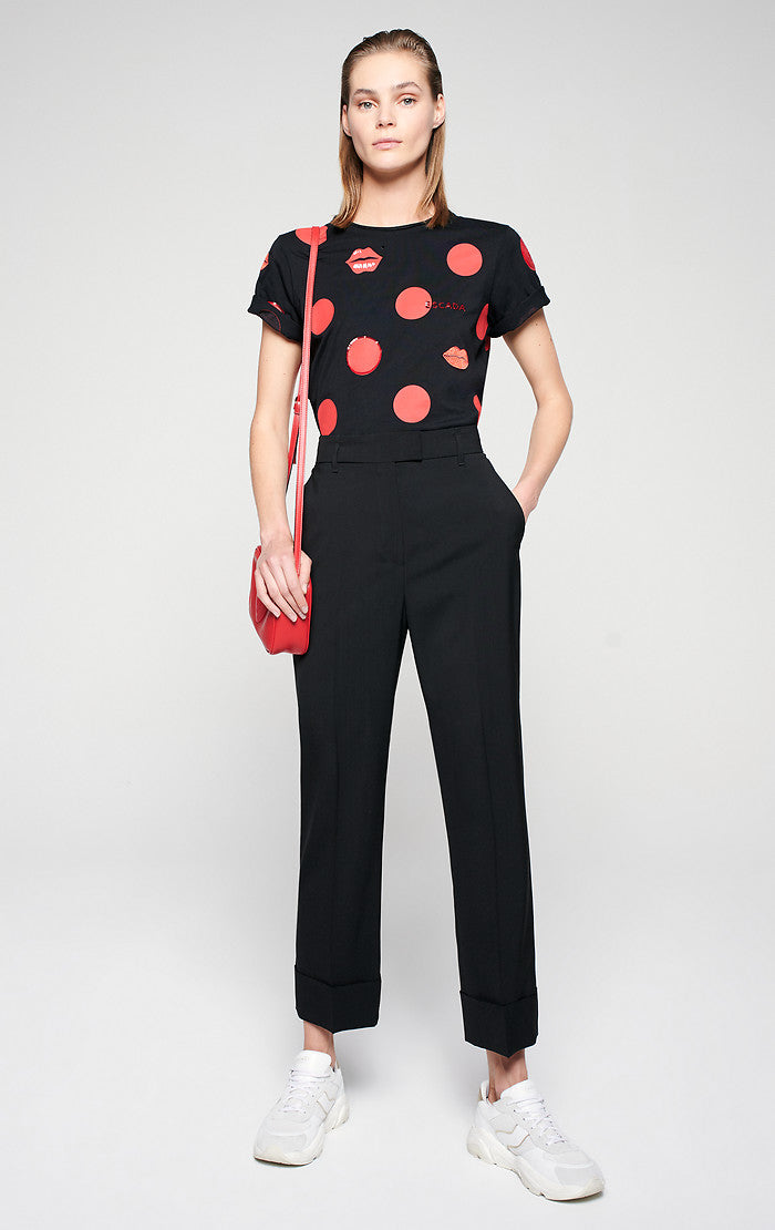 Virgin Wool Tapered Pants - ESCADA