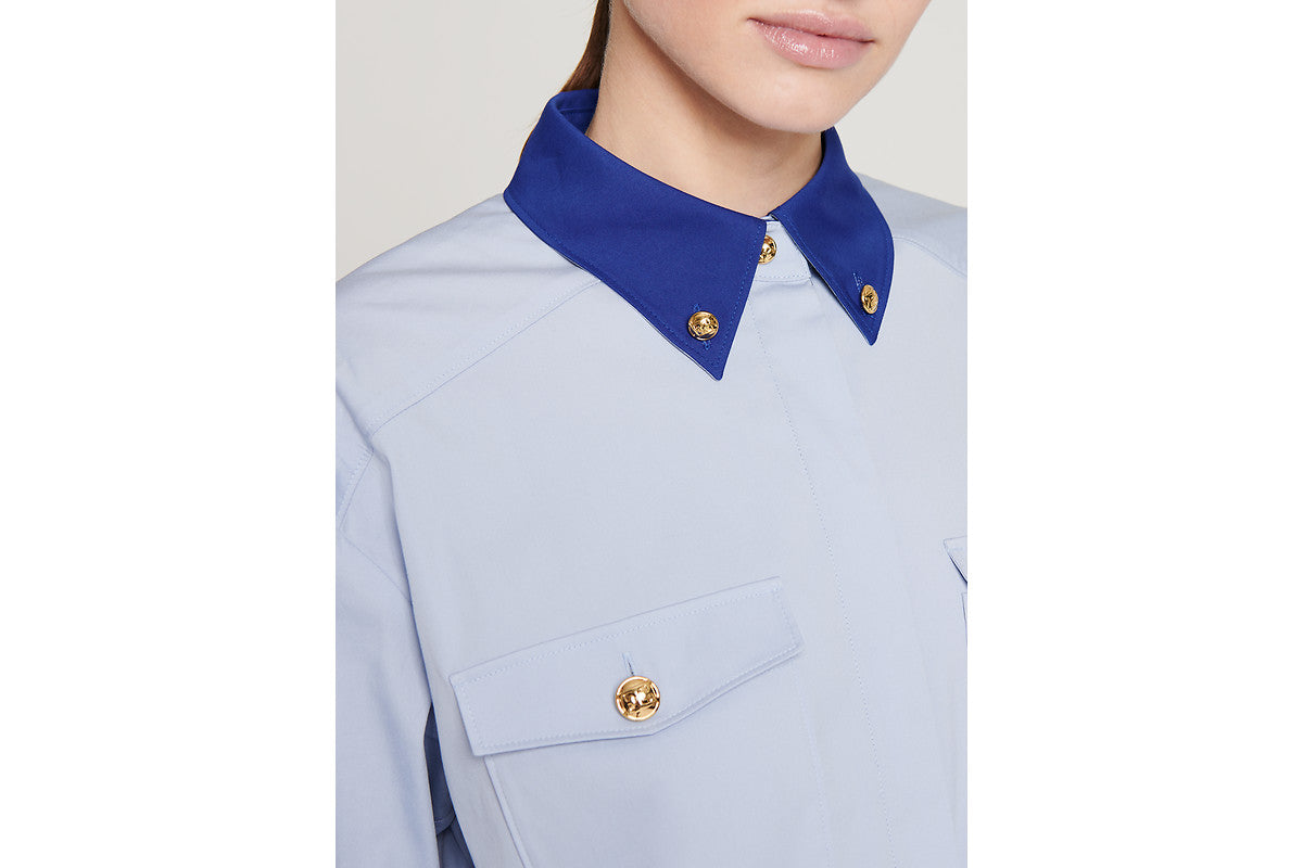 ESCADA Cotton Poplin Two-Tone Shirt
