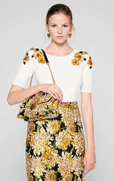 Floral Embroidered Sweater - ESCADA