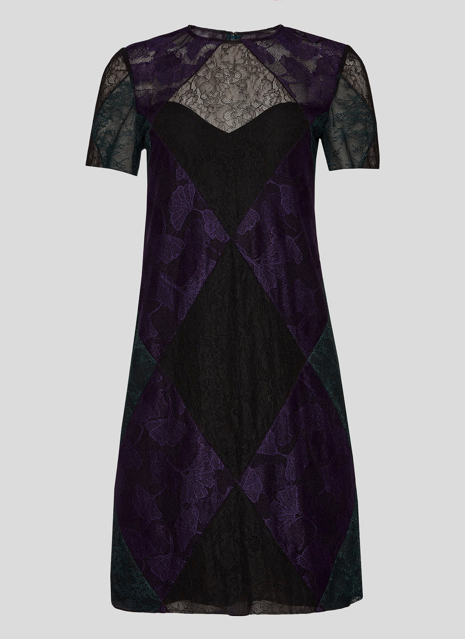Lace Patchwork Dress - ESCADA