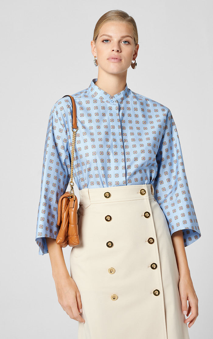 ESCADA Cotton Foulard Print Blouse