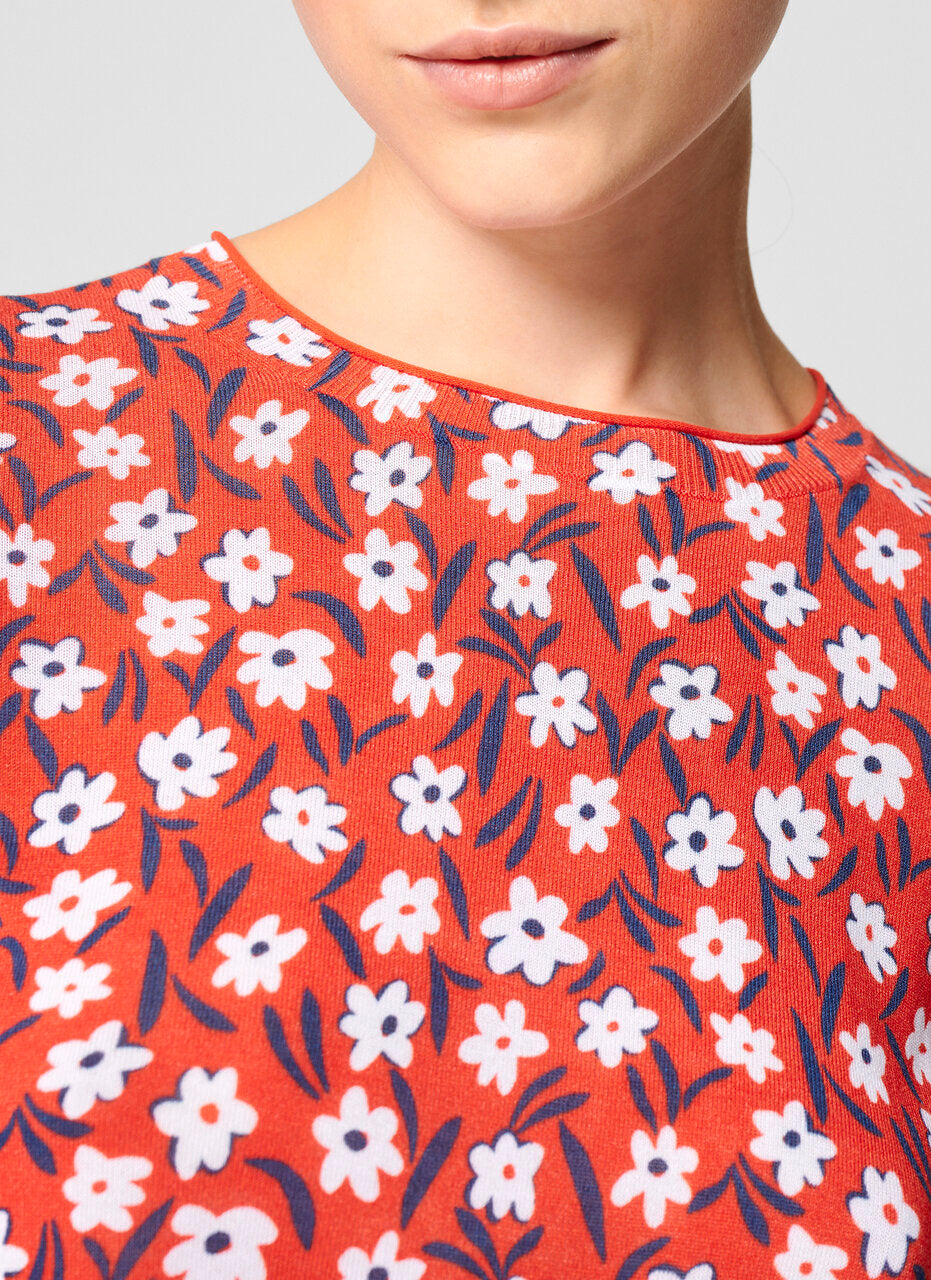 ESCADA Cotton Blend Floral Sweater