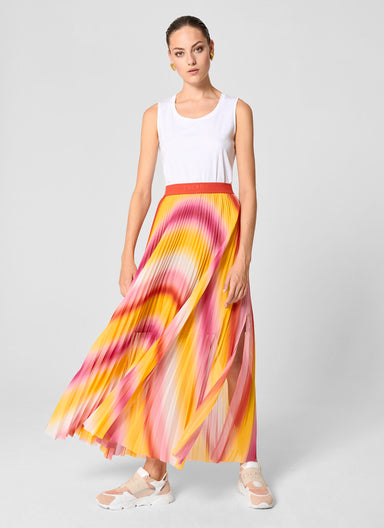 Multicolor Plissé Maxi Skirt - ESCADA
