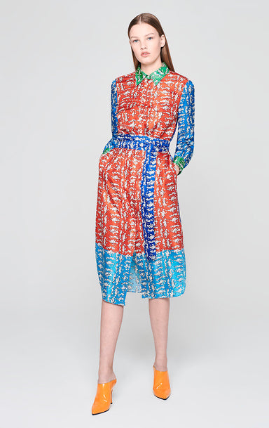 Silk Printed Shirt Dress - ESCADA