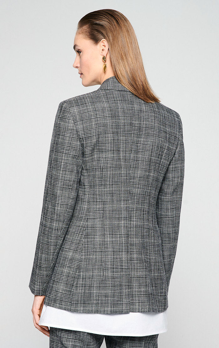 ESCADA Cotton Wool Check Blazer